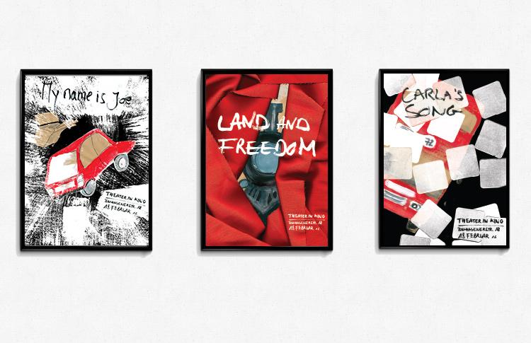 Illustration affiches films de Ken Loach
