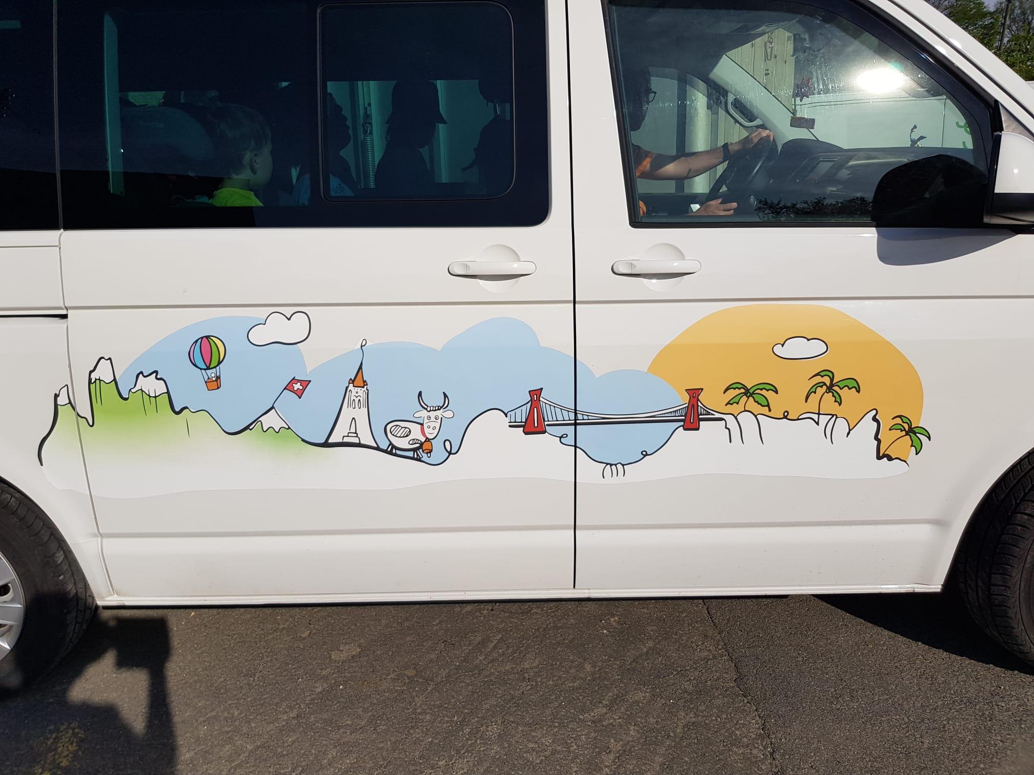 Illustration personnalisée pour van et camping car
