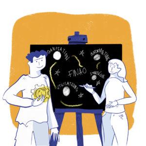 Finao illustration pour ado d'entreprise dessin