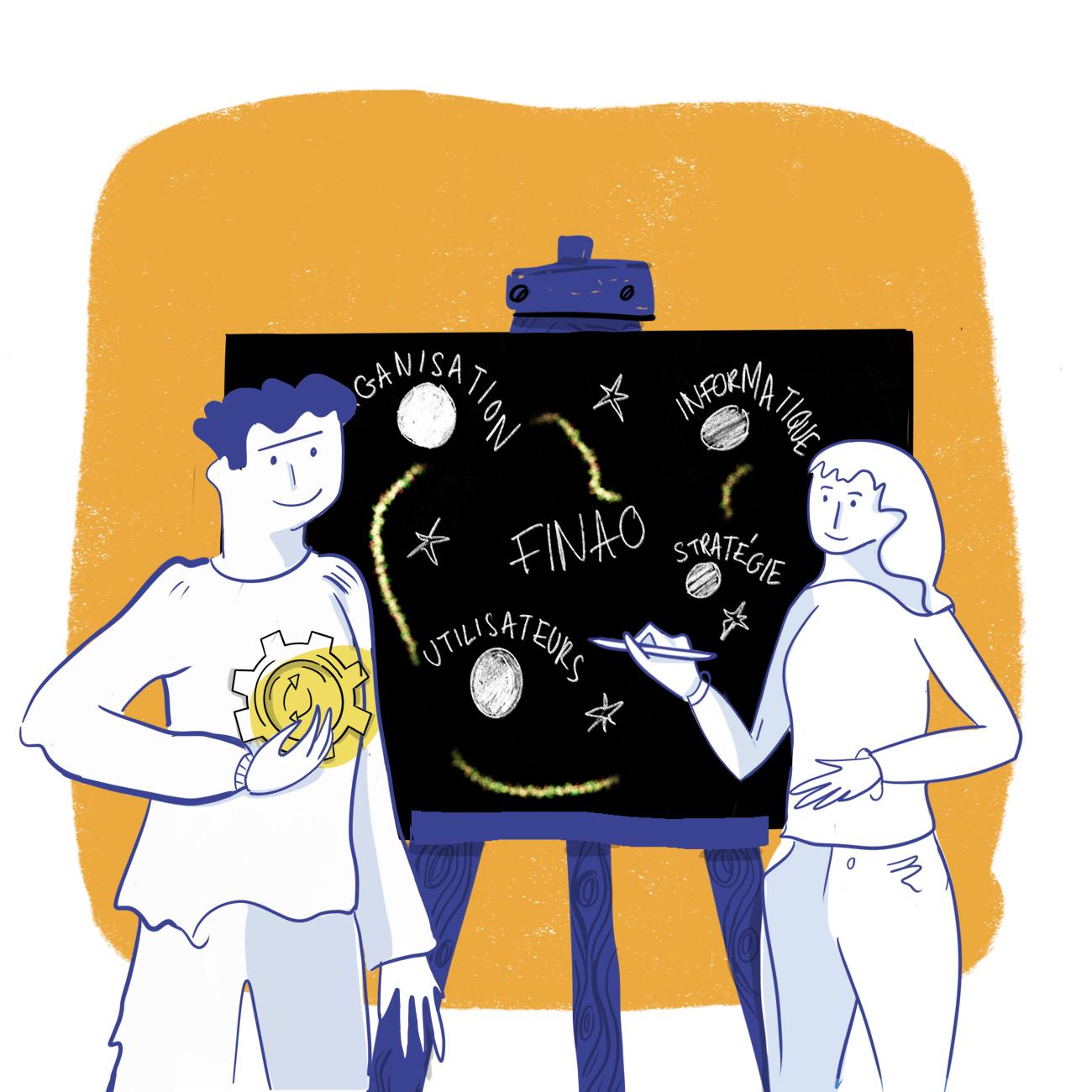 Finao illustration pour ado d'entreprise