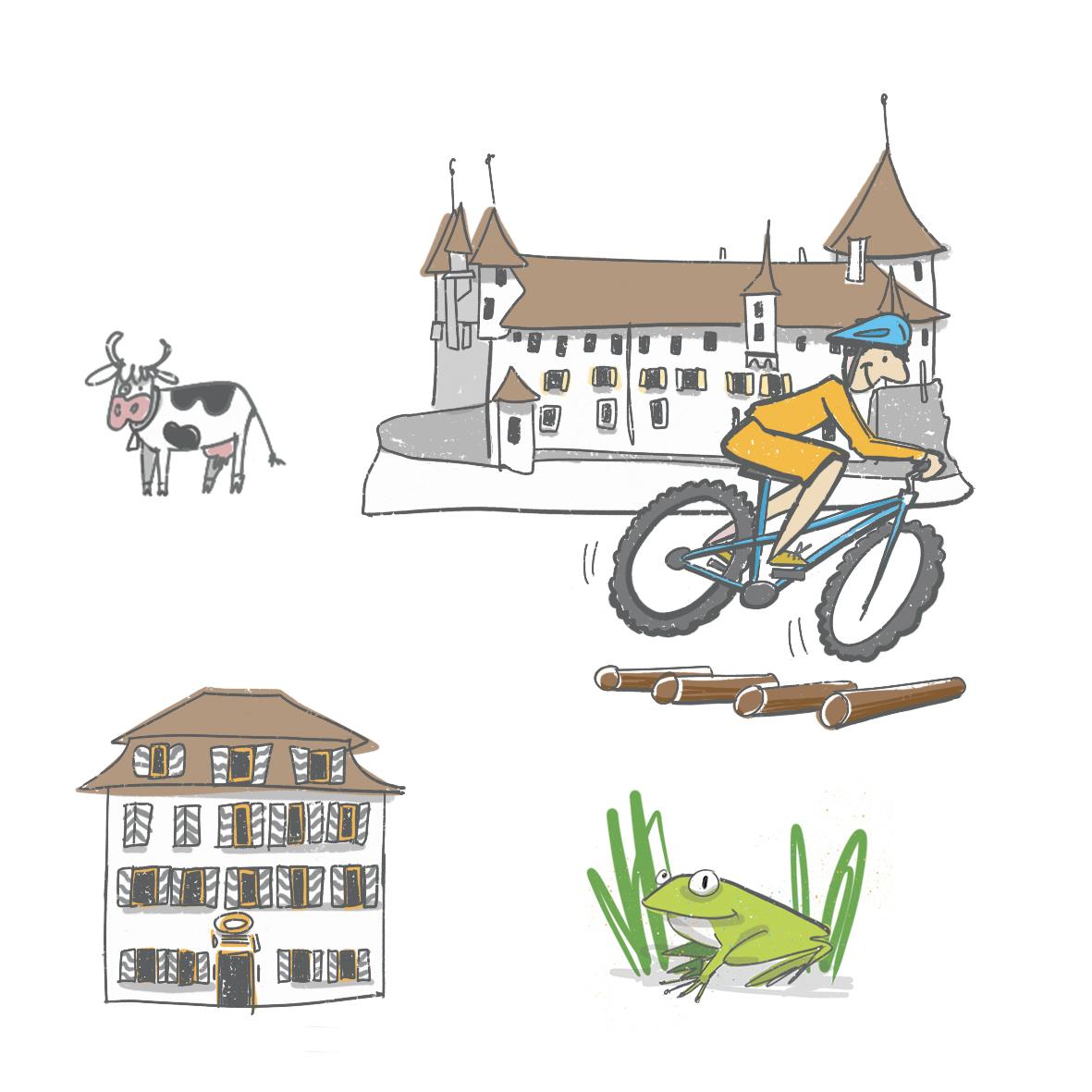 Pictogrammes Romont Tourisme
