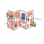 pictogramme d'une carte illustrée dessin