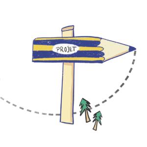 pictogramme dessin illustration d'un projet avec crayon