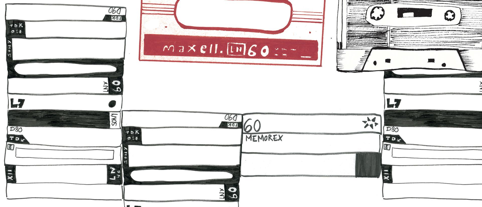 Illustration Laetitia Chapuis cassettes