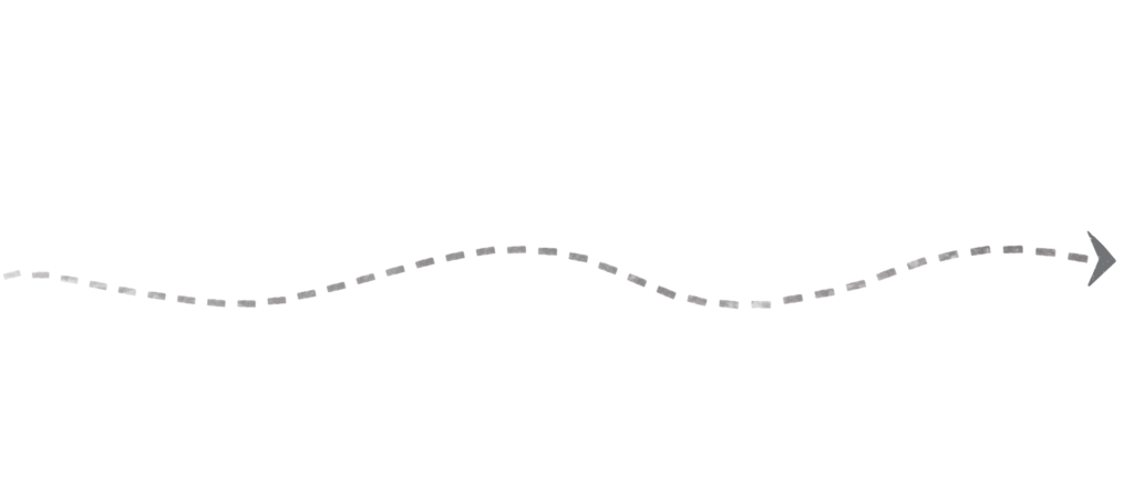 flèche avec chemin dessin